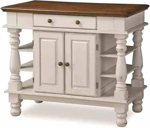 Americana Antique White Kitchen Island
