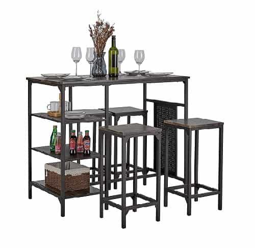 Kealive 5 Piece Bar Table Set