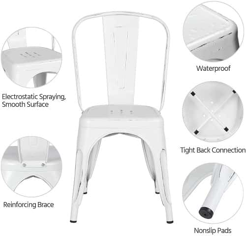 YAHEETECH Kitchen Dining Chair Set