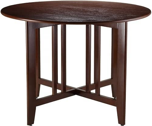 Double Drop Leaf Round Wood Table