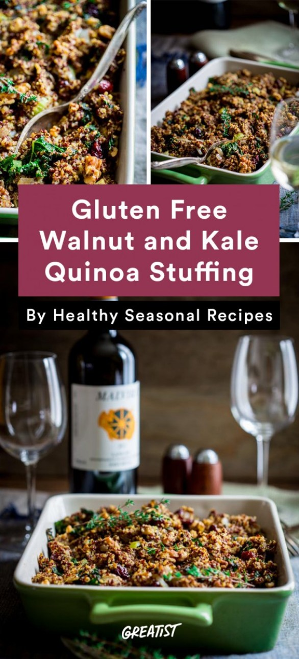 gluten free thanksgiving: Walnut and Kale Quinoa Stuffing