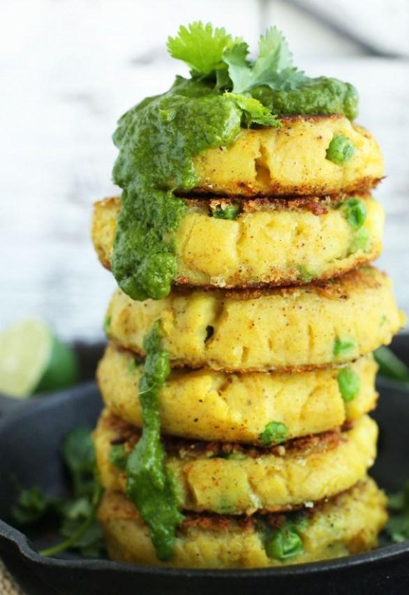 Sad veg: Samosa Potato Cakes