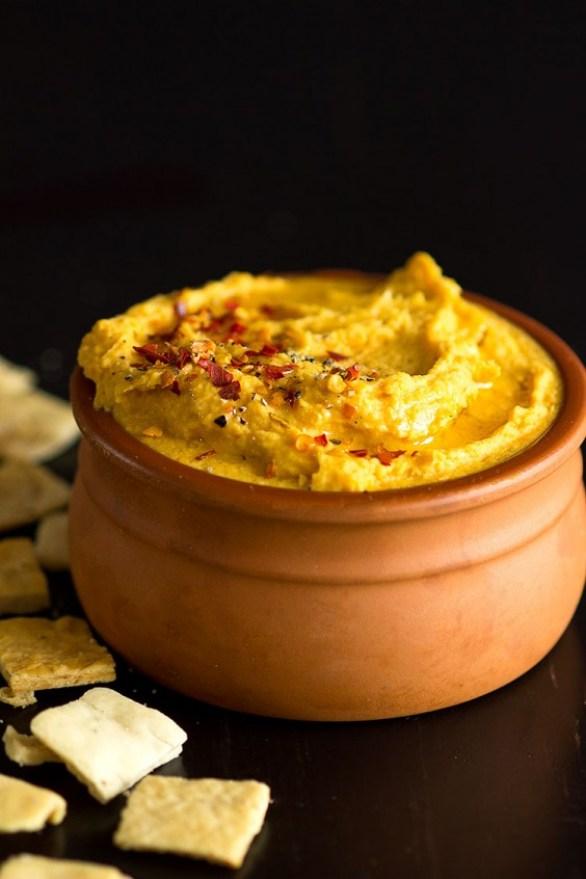 Turmeric Sweet Potato Hummus Recipe