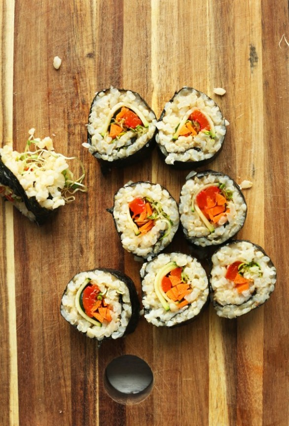 Detox Recipes: Vegan Brown Rice Sushi