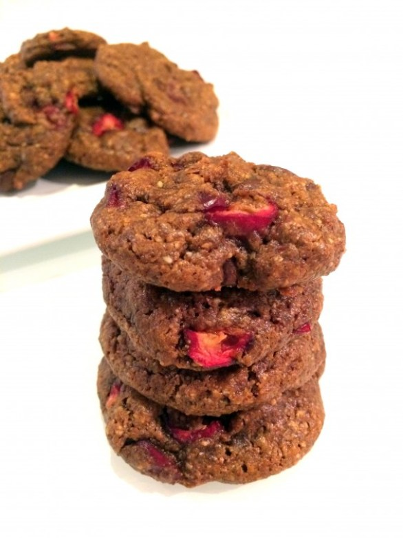 flourless cranberry chocolate chip cookies
