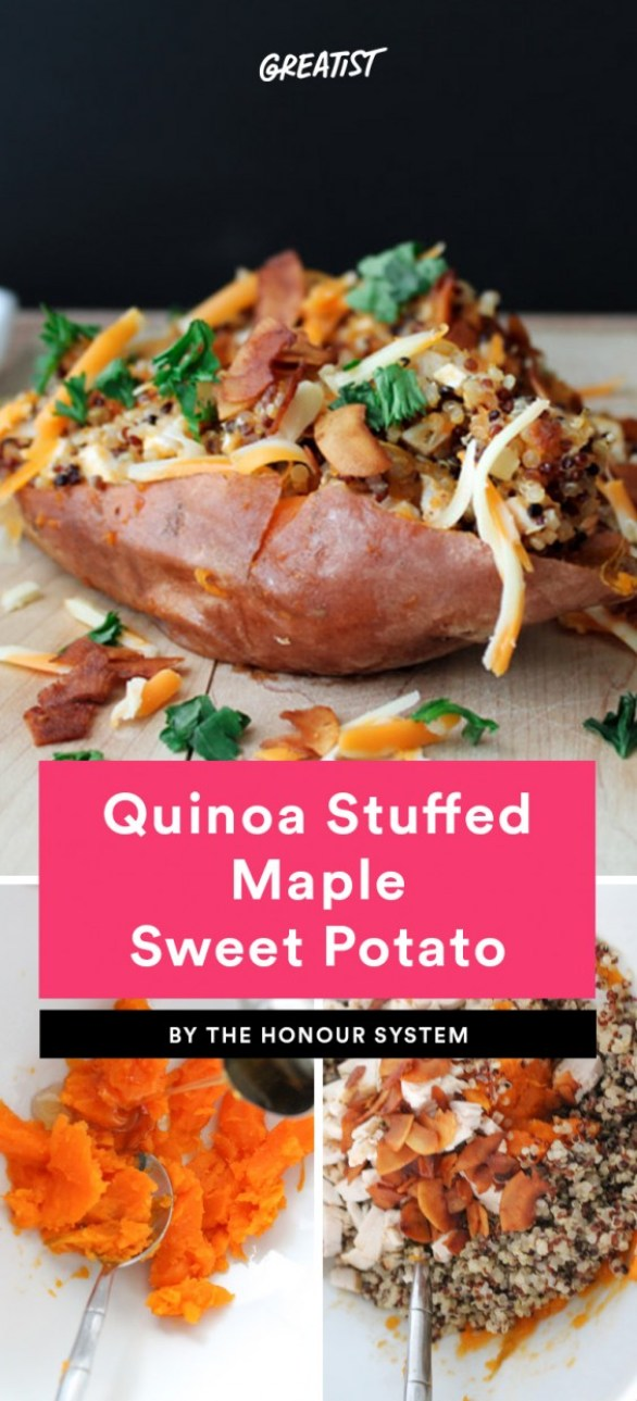 Quinoa Stuffed Maple Sweet Potato