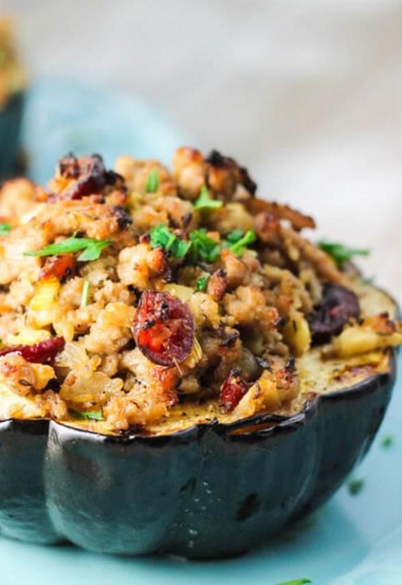 Sad veg: Turkey-Stuffed Acorn Squash