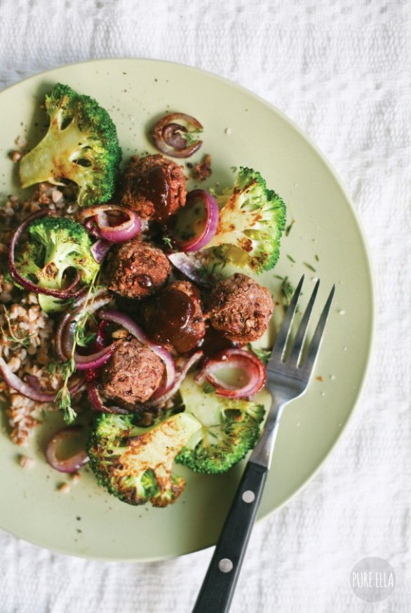 Black Bean Veggie Meatballs