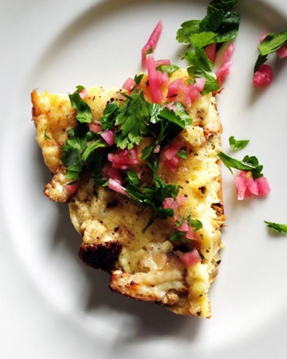 Caramelized Cauliflower Frittata
