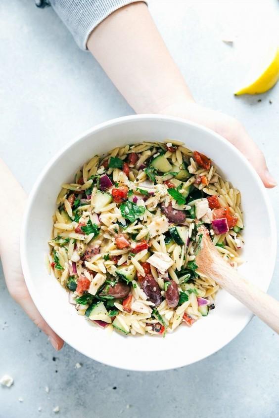 Mediterranean Tuna Orzo Salad Recipe