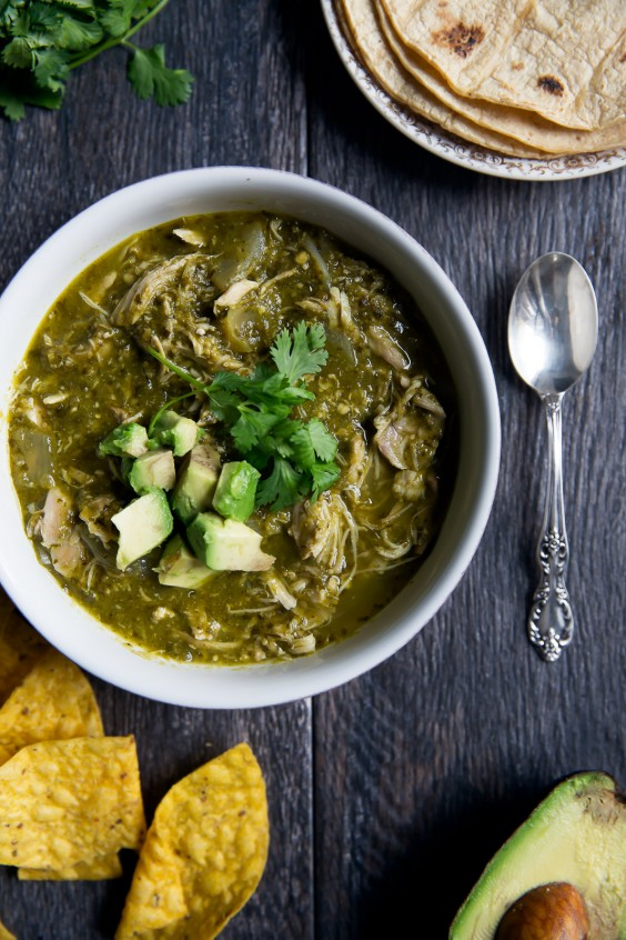 Healthy Slow Cooker Chicken Chile Verde Recipe