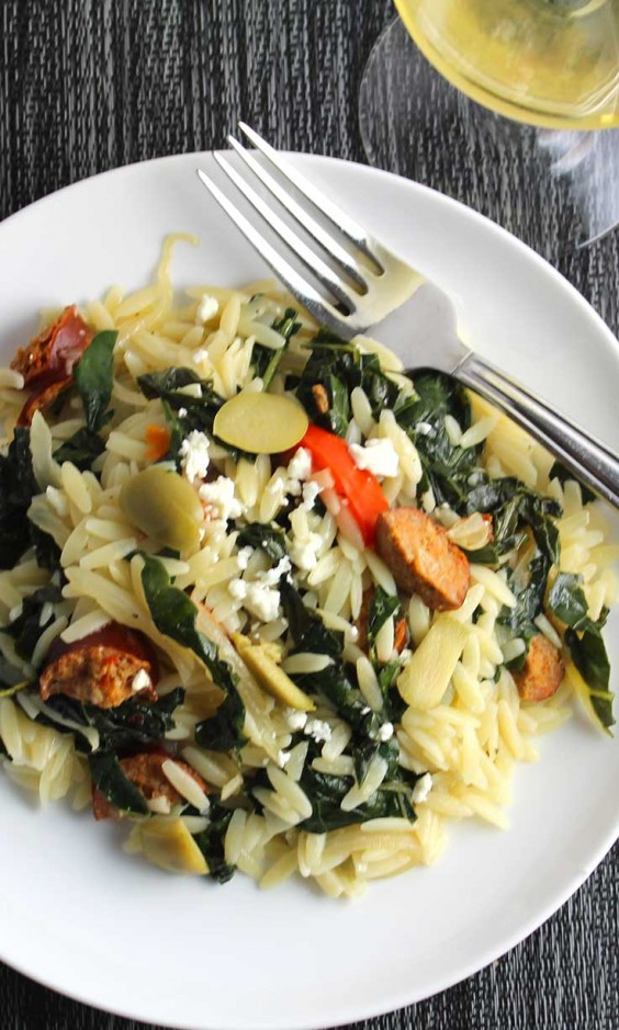 Orzo With Turkey Sausage and Kale Recipe