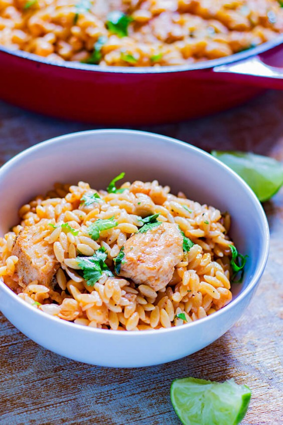 One-Pot Chicken, Chickpeas, and Orzo Recipe