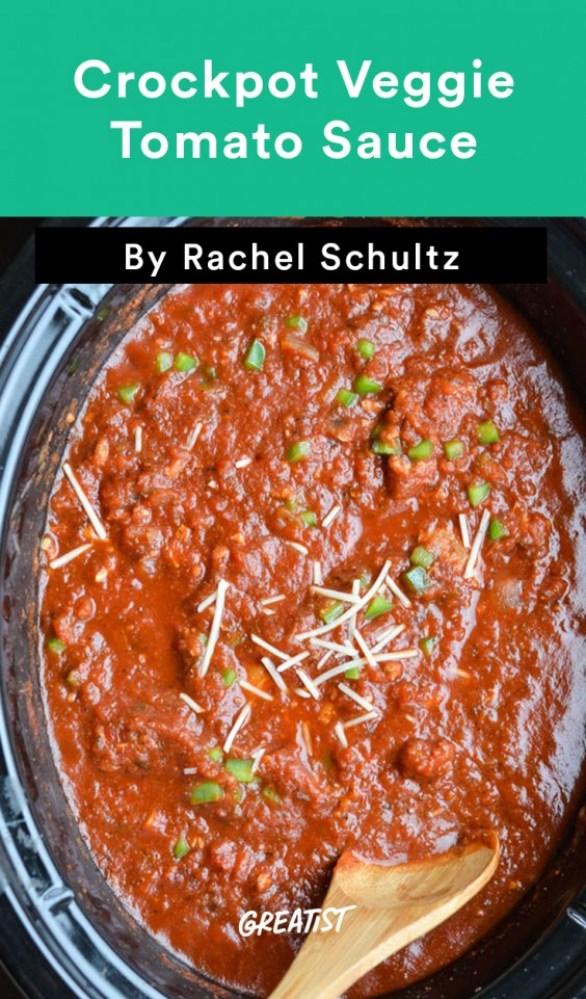 Crockpot Veggie Tomato Sauce Recipe