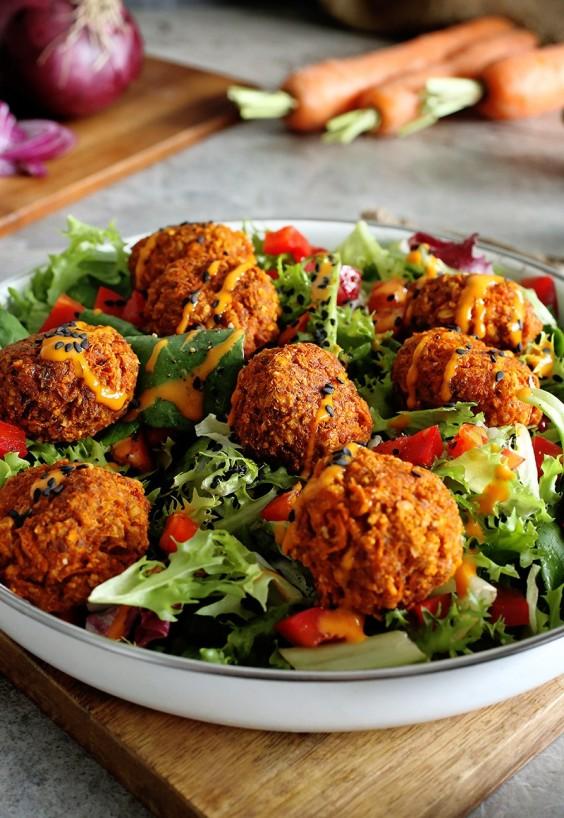 Easy Savory Carrot Balls Recipe