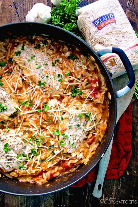 Light Italian One-Pot Salmon and Orzo Recipe