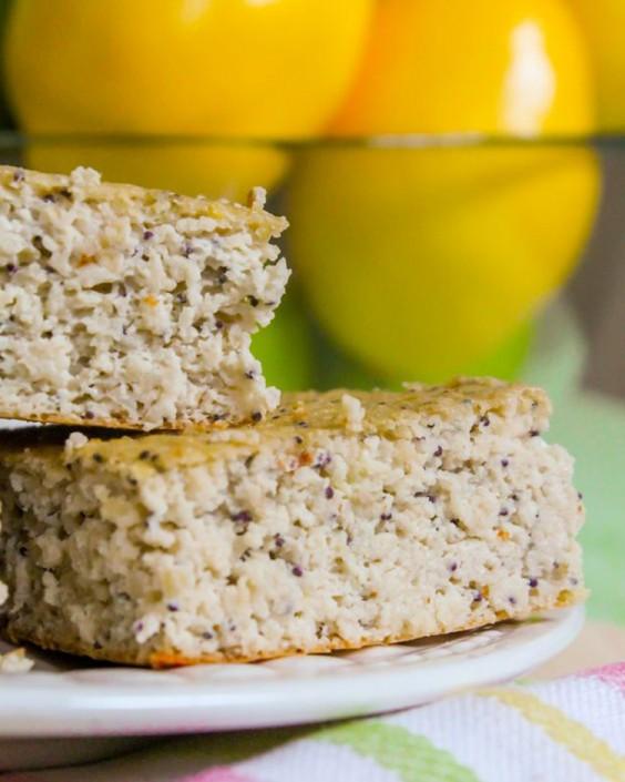 Lemon Poppy Seed Protein Squares