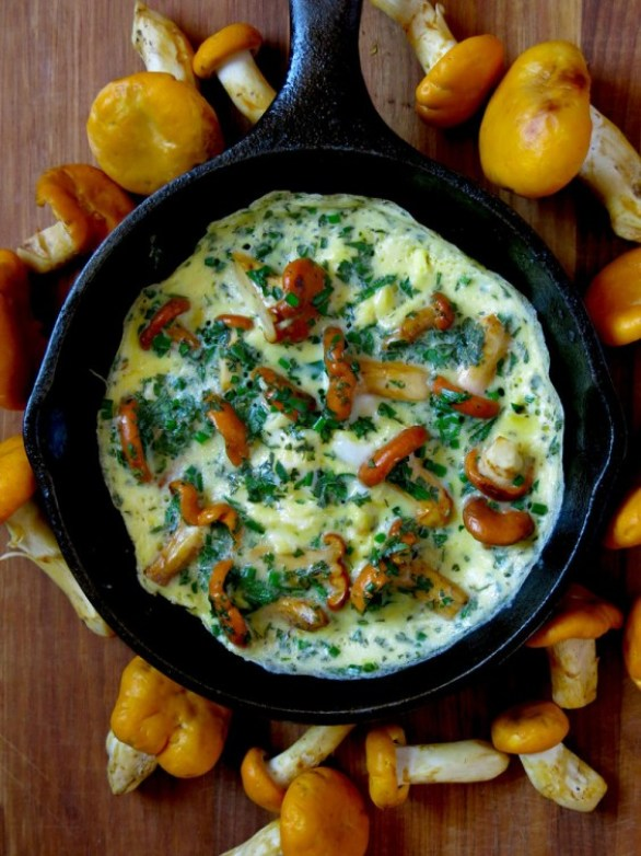 Mushroom and Herb Omelet Recipe