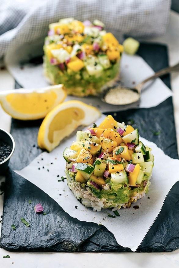 Tuna Sushi Stacks