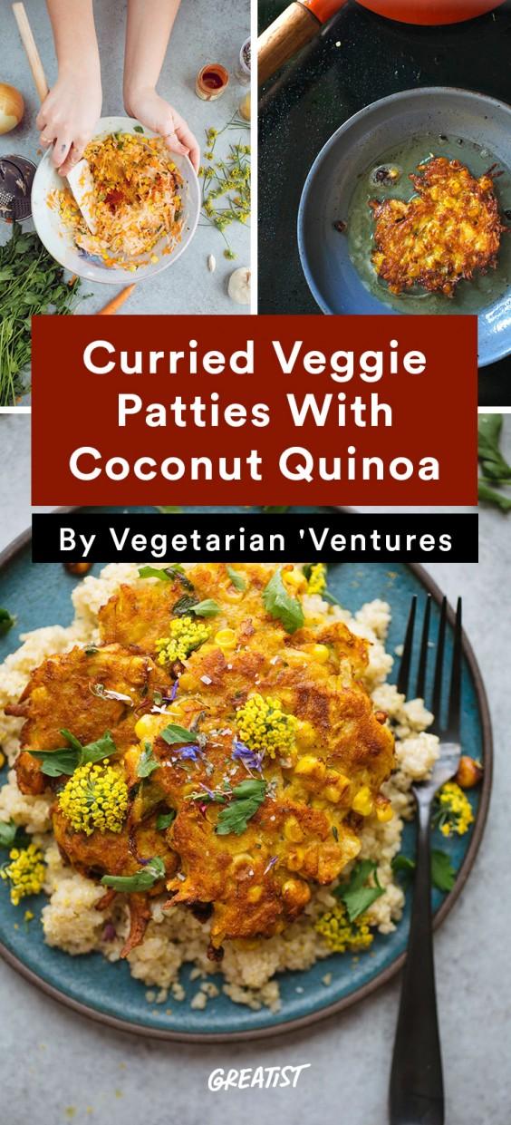 Vegetarian Ventures roundup: Curried Veggie Patties