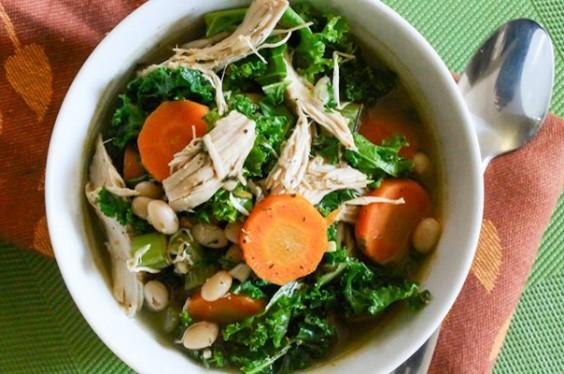 White Bean, Turkey, and Kale Soup