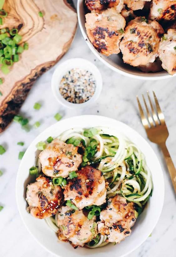 Asian Meatballs Noodle Bowl Recipe