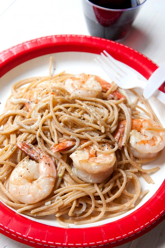 Shrimp Scampi for One