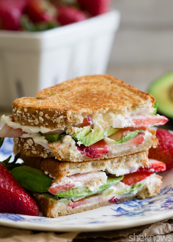 Strawberry Goat Cheese Panini