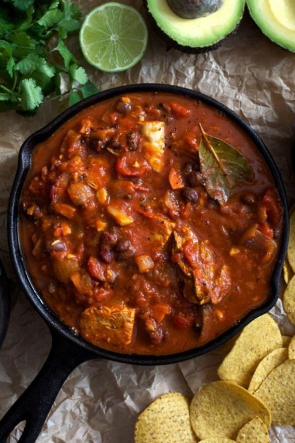 Veggie Chili: Tempeh