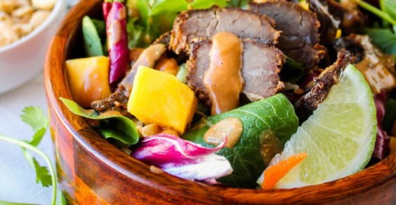 Slow-cooked Thai beef makes a tasty main salad.