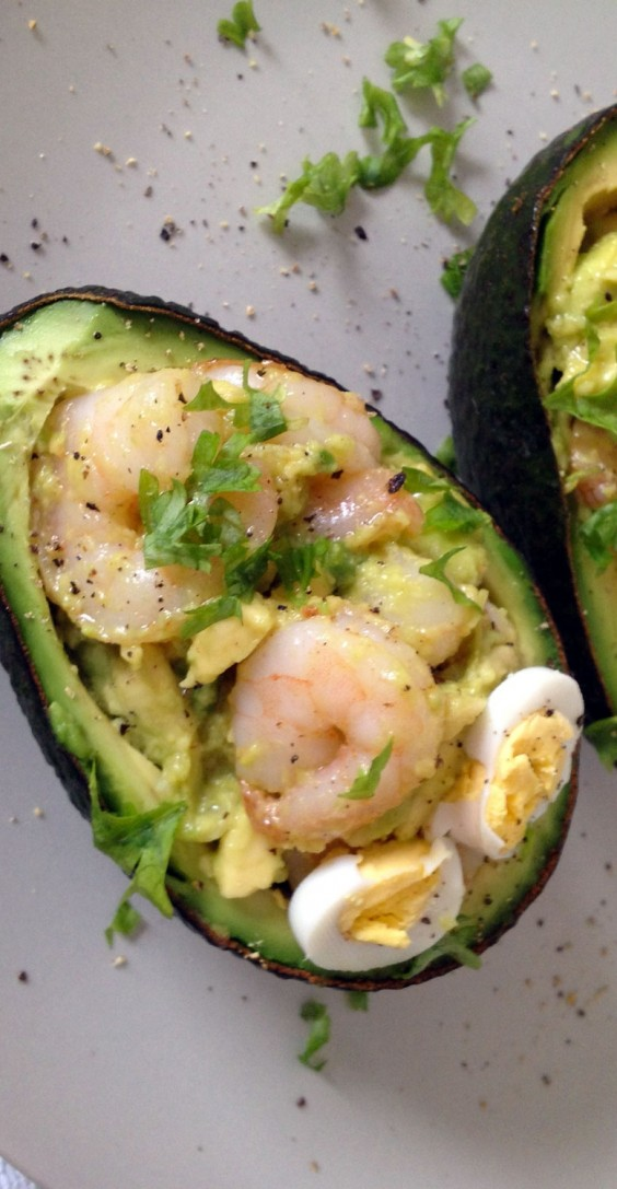 Garlic Shrimp Stuffed Avocado