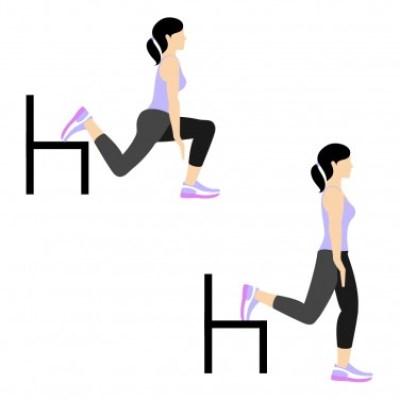 7 Min Workout: Split leg left