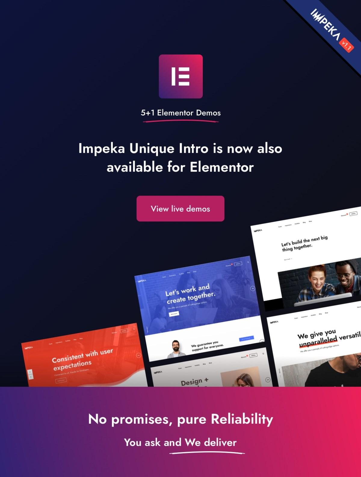 Impeka v 1.1 Elementor Extended Support