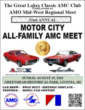 Greenmead All Familly Show 2018 Great Lakes Classic Amc