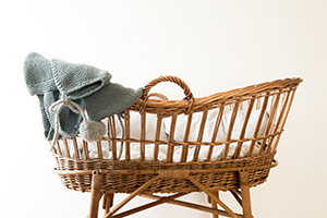 wicker baby basket