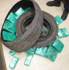 Cash Smuggled in Tire