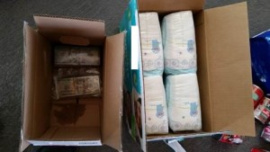 Wrapped bundles of U.S. currency concealed inside random containers.
