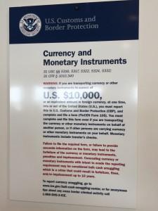 Declare money over $10,000 to avoid CBP money seizure.