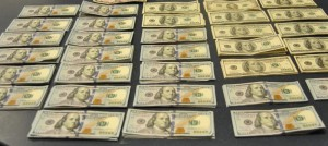Cash that was discovered in several envelopes stashed among belongings.