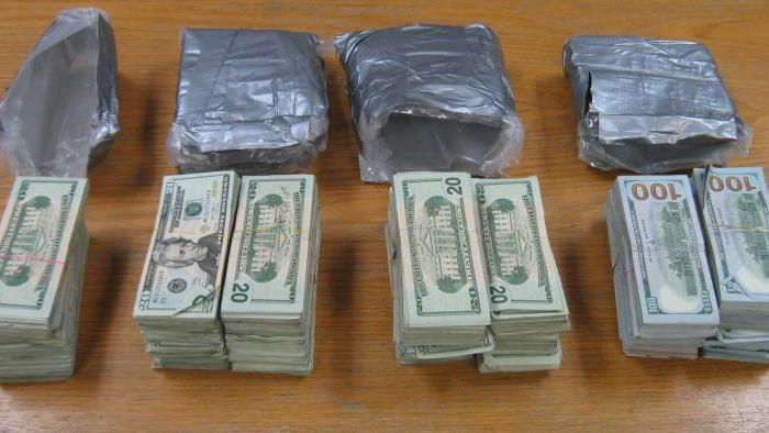 A picture of the more than $150,000 cash taken by CBP officers in Hidalgo, Texas.