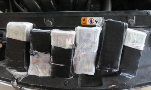 Sixty-thousand dollars hidden in the firewall of a vehicle seized by U.S. Customs & Border Protection