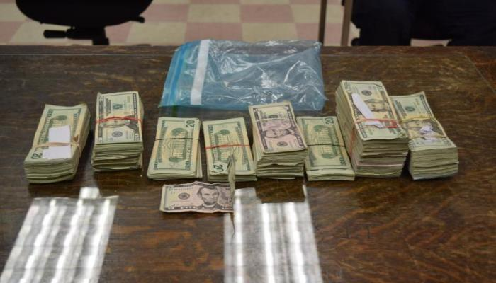 Cash seized by Brownsville CBP displayed to reporters