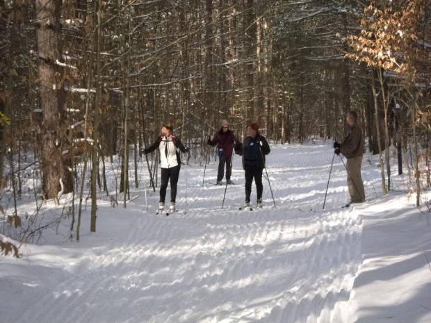 Enjoying XC Skiing in northern Michigan
