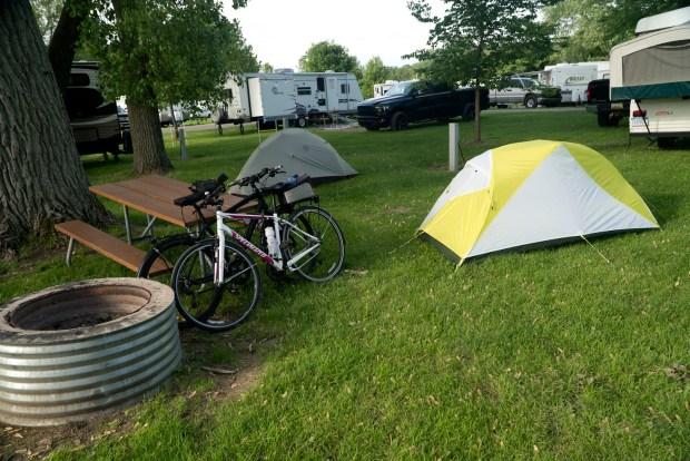 Local bike touring in Michigan