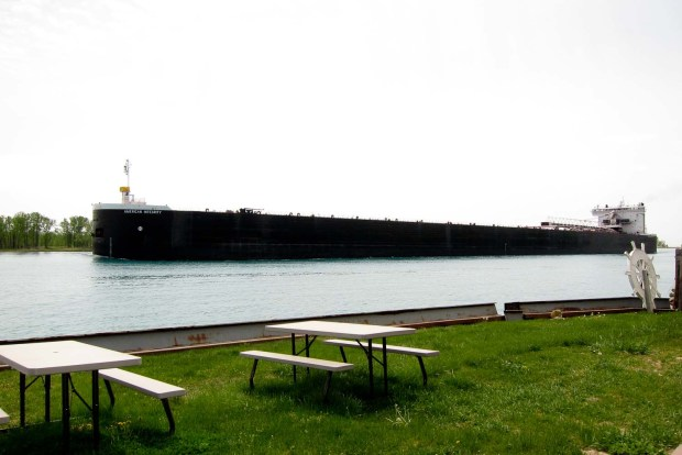 Freighter passing by Harsens Island
