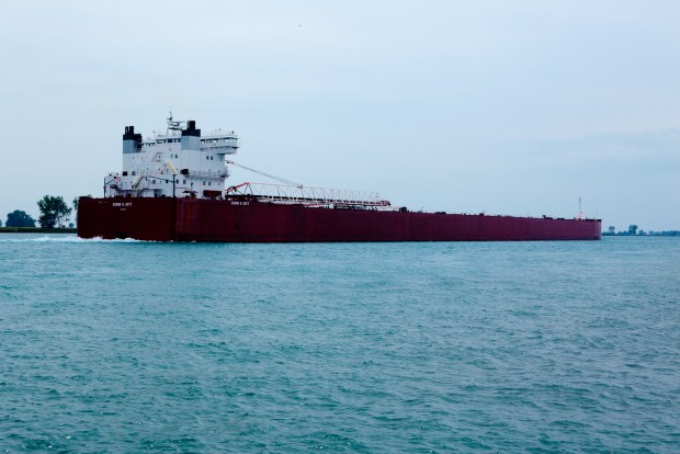 Freighter on St. Clair River