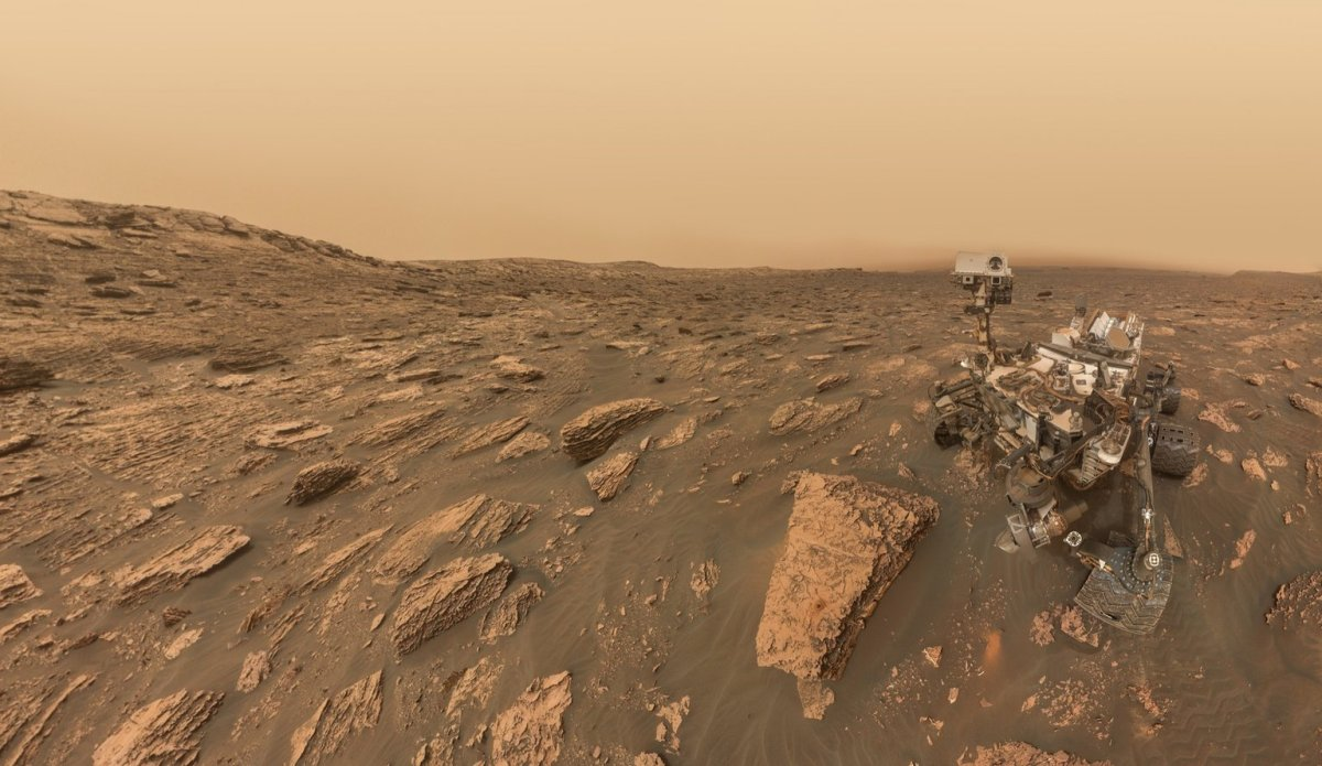 While Opportunity's Mission is in Danger, NASA's Curiosity Rover Took a Selfie During a Storm on Mars