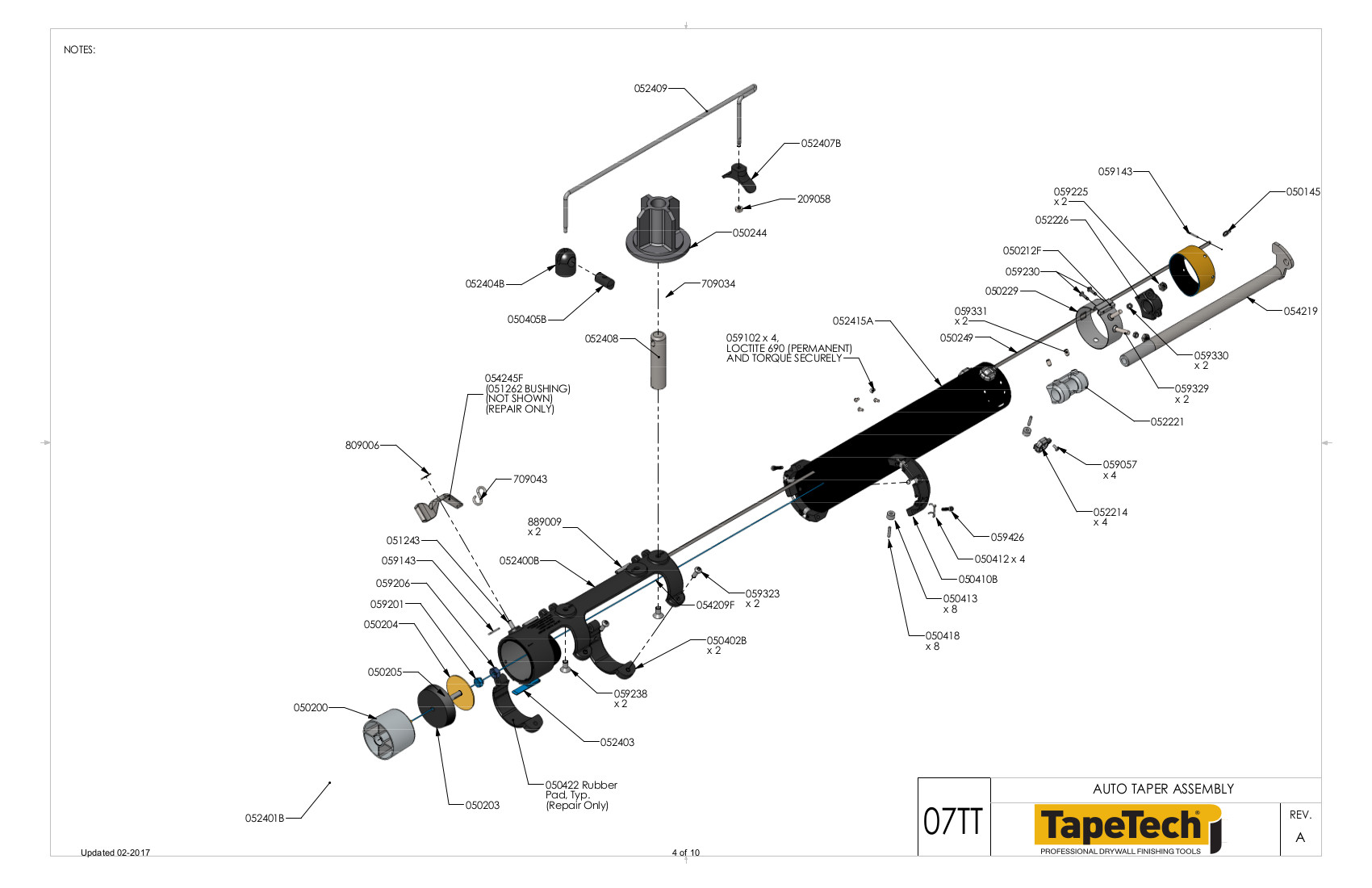 Tapetech Taper Body Parts