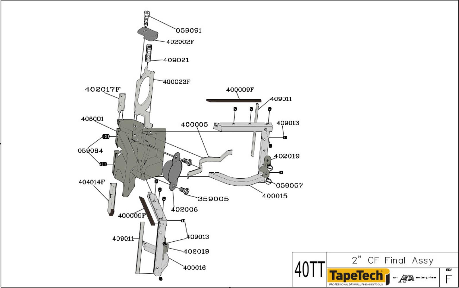 Tapetech Angle Head Parts