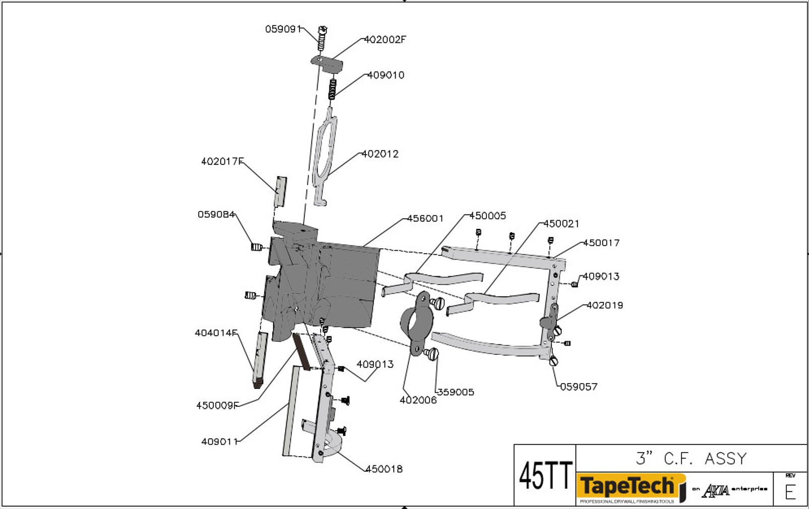 Tapetech Angle Head Parts